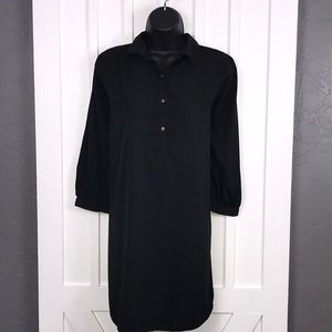 SHIRT DRESS / BLACK / COVER UP
